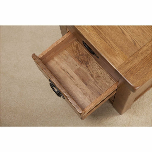 Country Rustic Solid Oak 3 Drawer Bedside Table - Michael Edwards