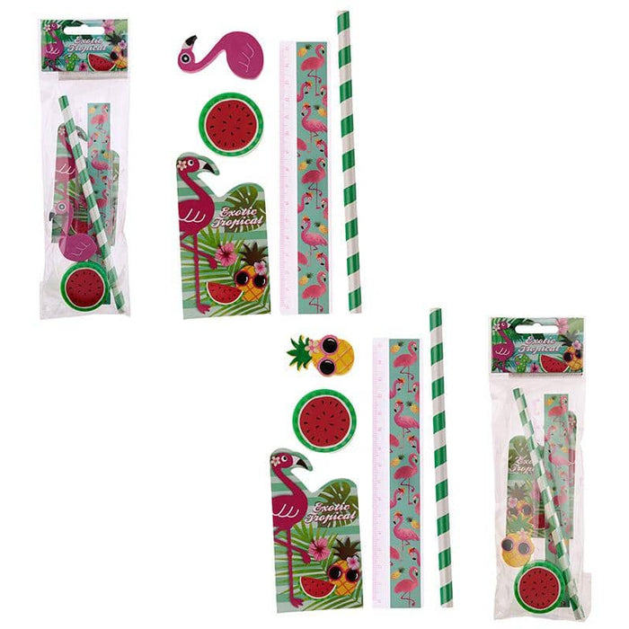 Cute Flamingo Design Stationery Set - Simply Utopia