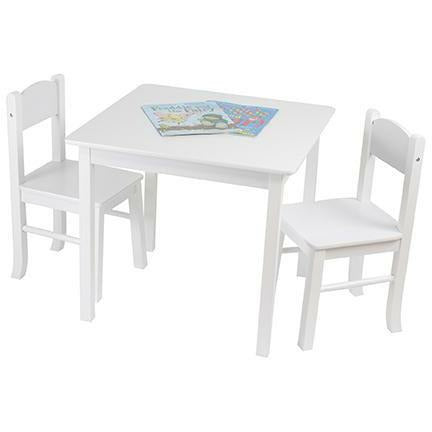 White Wooden Table & 2 Chairs Set - Simply Utopia