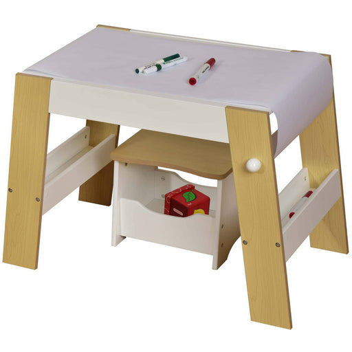 Kids White Pine Play Table And Stool - Simply Utopia
