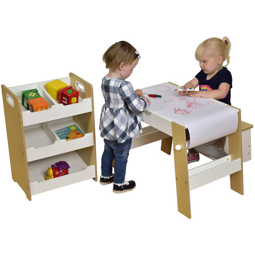 Kids White Pine Sloping Storage - Simply Utopia