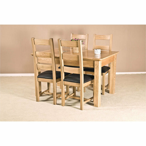 "Country Elegance Solid Oak 4'6"" 2 Leaf Extending Dining Table - Michael Edwards"