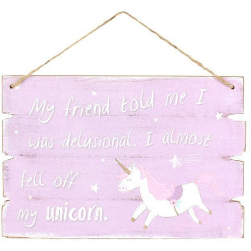 Purple Unicorn Hanging Sign - Simply Utopia