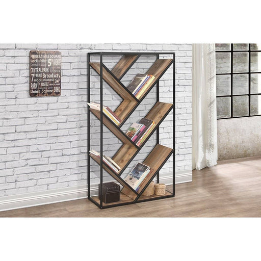 Urban Diagonal Bookcase Rustic - Simply Utopia
