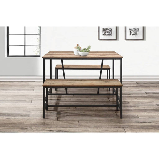 Urban Dining Table And Bench Set Rustic - Simply Utopia