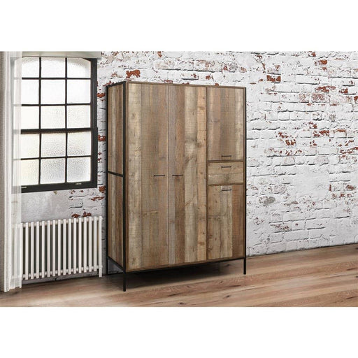 Urban 4 Door Wardrobe Rustic - Simply Utopia