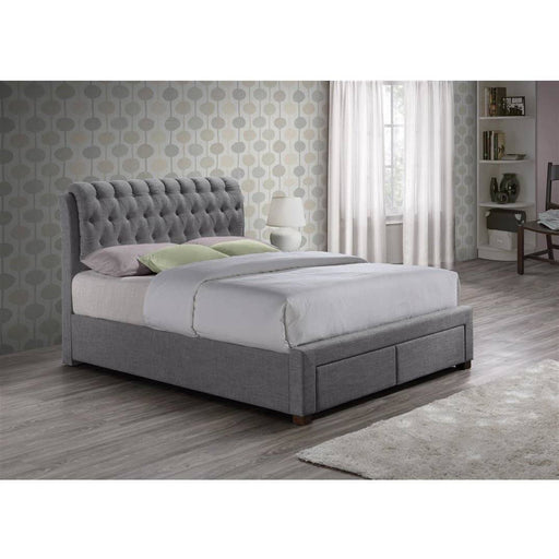 Valentino 2 Drawer Fabric Bed - Simply Utopia