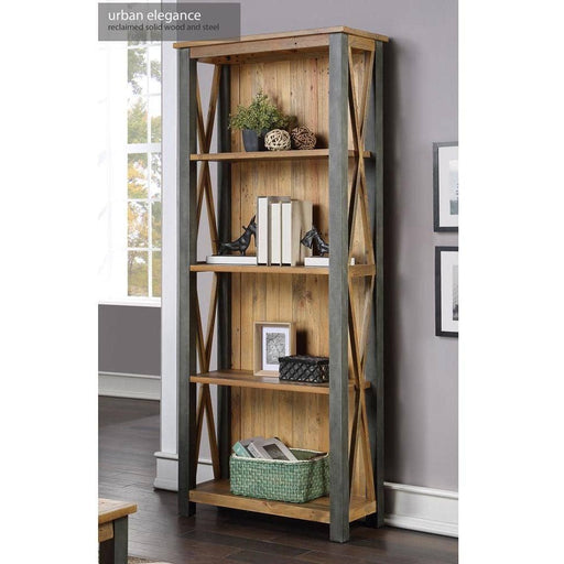 Urban Elegance Rustic Reclaimed Wooden Tall bookcase - Simply Utopia