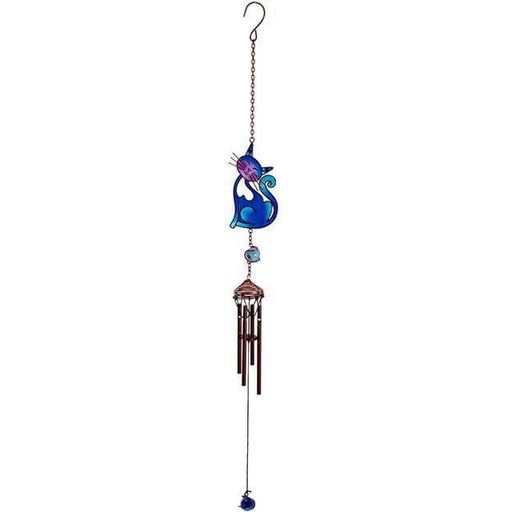 Blue Slinky Cat Windchime - Simply Utopia