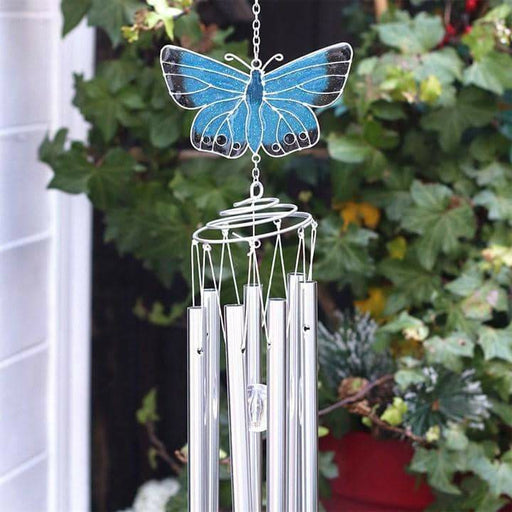 Chalkhill Blue Butterfly Windchime - Simply Utopia