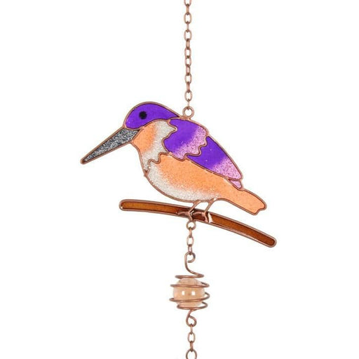 Purple Kingfisher Windchime - Simply Utopia