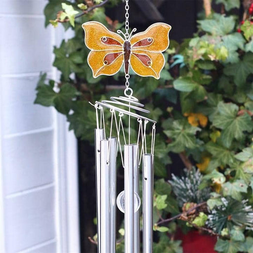 Yellow Brimstone Butterfly Windchime - Simply Utopia