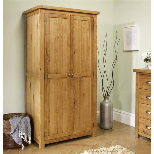 Woburn 2 Door Wardrobe Oak/Oak Veneers - Simply Utopia