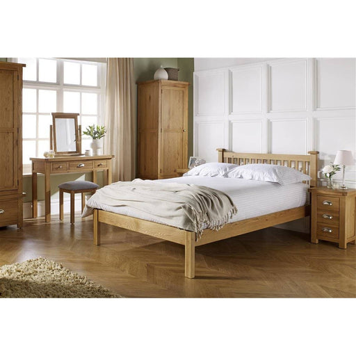 Woburn Chunky Oak Bed - Simply Utopia