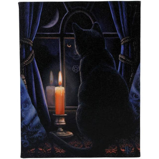 19x25cm Midnight Vigil Canvas Plaque by Lisa Parker - Simply Utopia