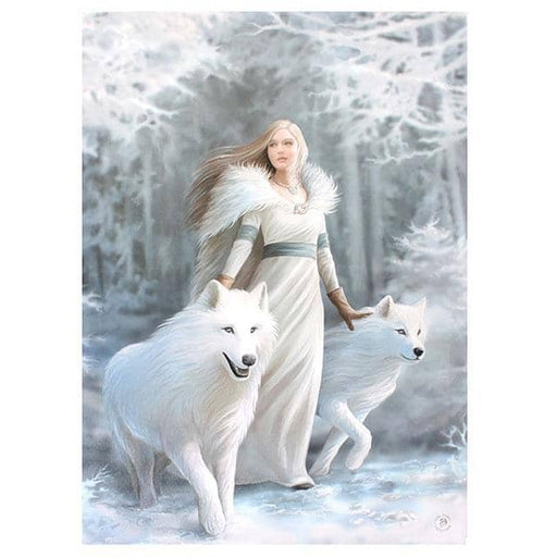 Winter Guardian Canvas Plaque by Anne Stokes 19x25cm - Simply Utopia