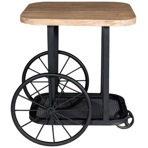 Craft Wheel End Table - Simply Utopia