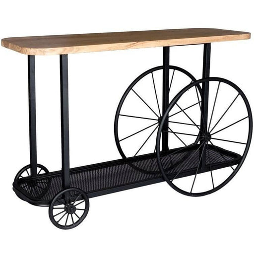 Craft Wheel Console Table - Simply Utopia