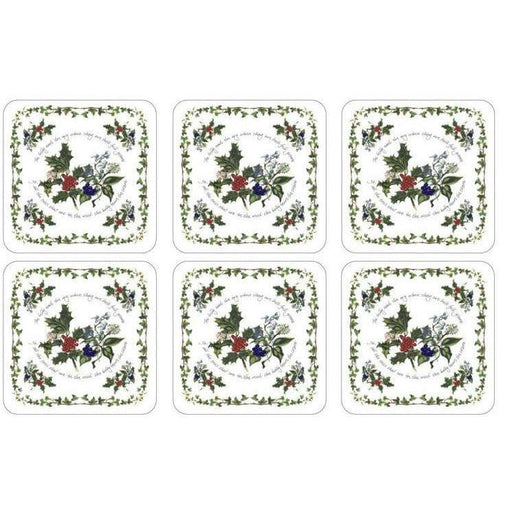 Pimpernel The Holly and The Ivy Coasters Set of 6 - Simply Utopia