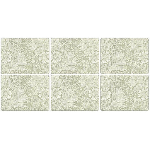 Morris and Co for Pimpernel Marigold Green Placemats Set Of 6 - Simply Utopia