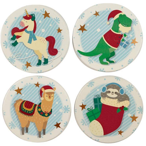 Set of Novelty Coasters - Christmas Festive Friends - Simply Utopia