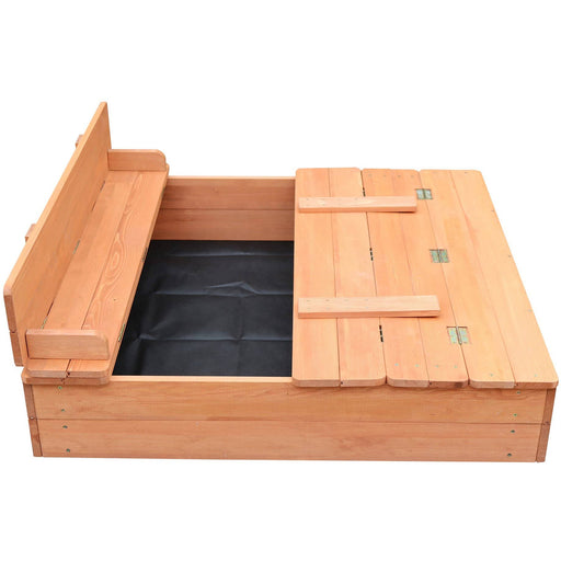 Kids Sandpit With Cover / Seating - Simply Utopia