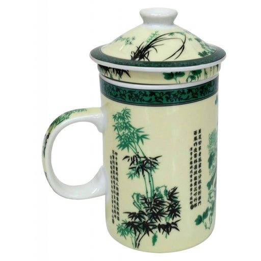 Bamboo Poetry Infuser Porcelain Mug - Simply Utopia