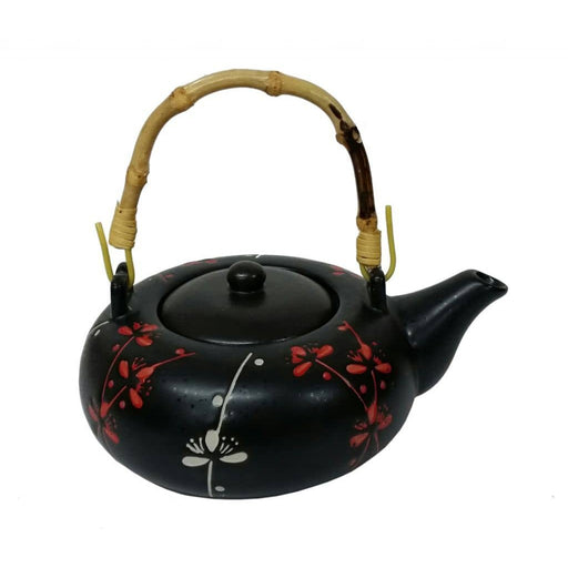 Blossom Sprig Black Porcelain Tea Set - Simply Utopia