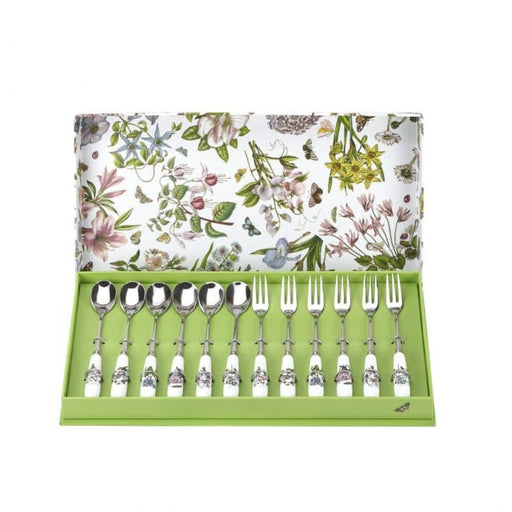 Portmeirion Botanic Garden Pastry Fork and Teaspoon Set of 12 - Simply Utopia