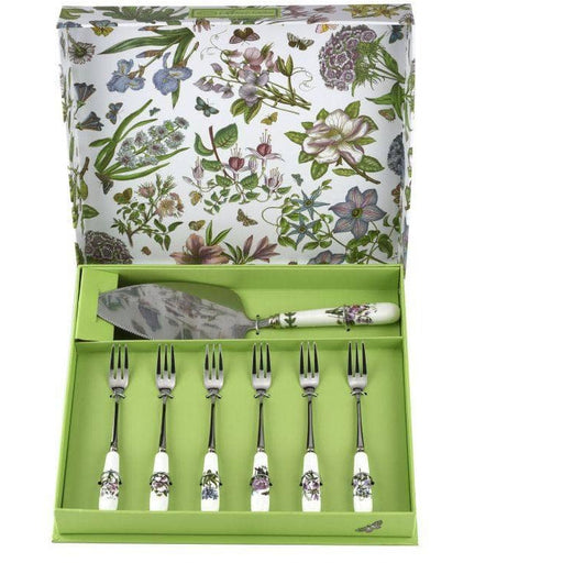 Portmeirion Botanic Garden Cake Slice and Pastry Forks Set of 6 - Simply Utopia