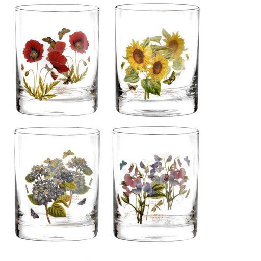 Portmeirion Botanic Garden Double Old Fashioned Set of 4 Assorted Motifs - Simply Utopia