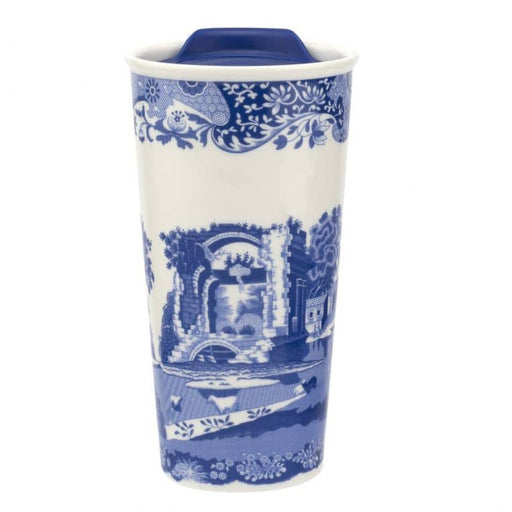 Spode Blue Italian 12 oz Travel Mug - Simply Utopia