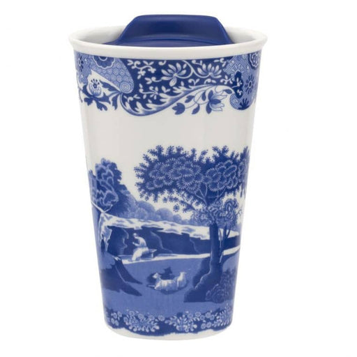 Spode Blue Italian 8 oz Travel Mug - Simply Utopia