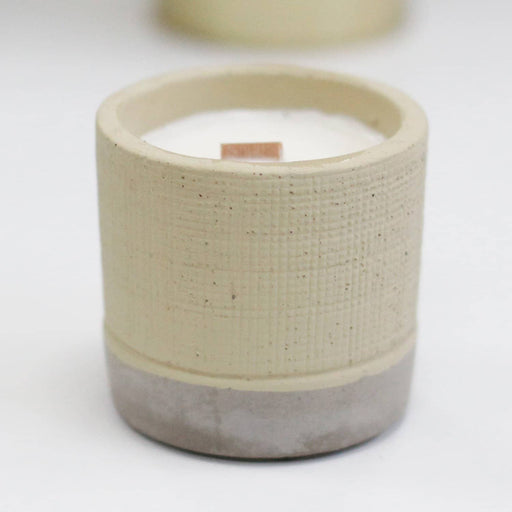 Grey -Coffee in the Club Pot Candle - Simply Utopia