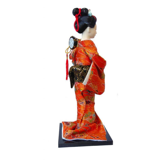 Japanese lady in red dress with drum - Simply Utopia