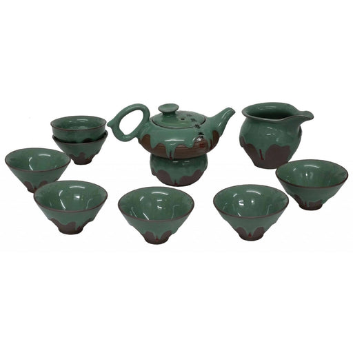 Green Iced Porcelain Teaset - Simply Utopia