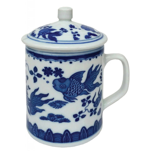 Porcelain Chinese Goldfish Mug - Simply Utopia