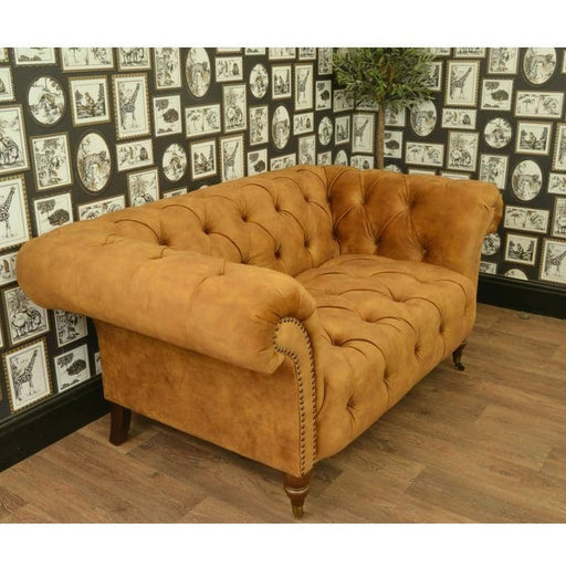 Ellie Wing Armed Gold Velvet  Chesterfield - Simply Utopia