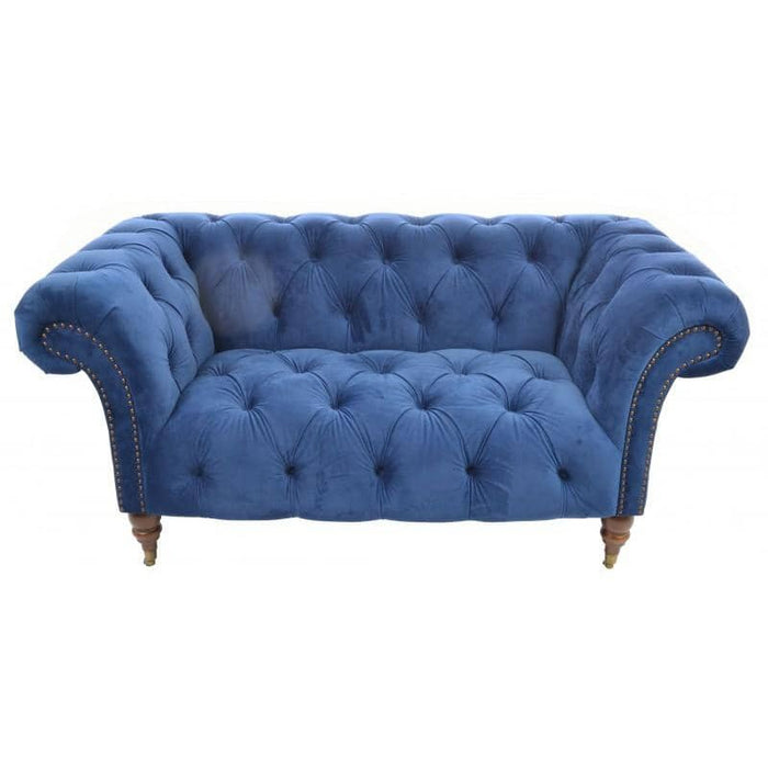 Ellie Navy Chesterfield 1.5 Seat - Simply Utopia