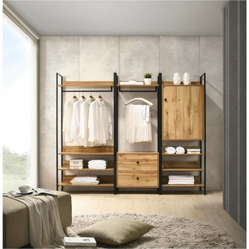 Zahra 3 Piece Bedroom Furniture Set Open Wardrobes - Simply Utopia
