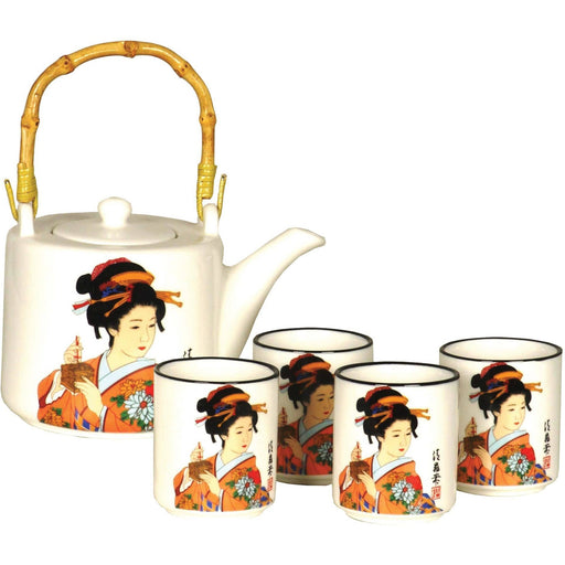 Japanese Lady Porcelain Teaset - Simply Utopia