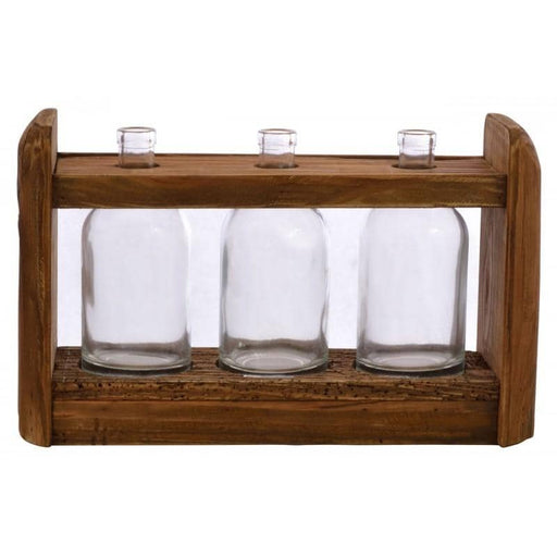 Reclaimed Pine 3 Bottle Display Shelf - Simply Utopia