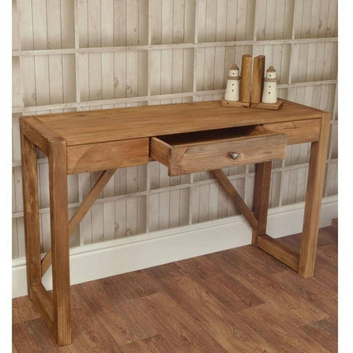 Fair Isle 1 Drawer Reclaimed Pine Console Table - Simply Utopia