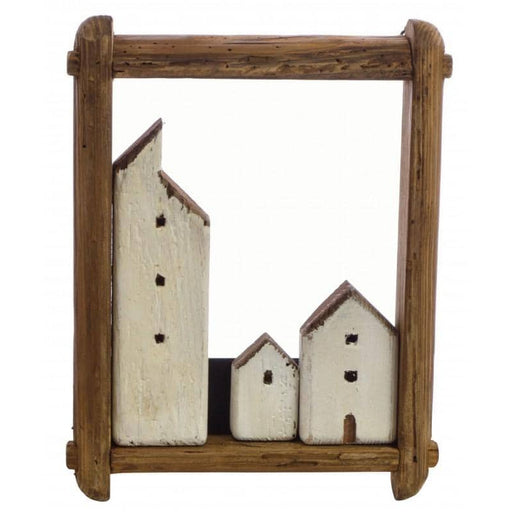 Fair Isle Fishing Village in Portrait Frame - Simply Utopia
