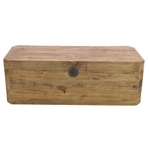 Rectangle Reclaimed Pine Storage Chest With 2 Compartments - Simply Utopia
