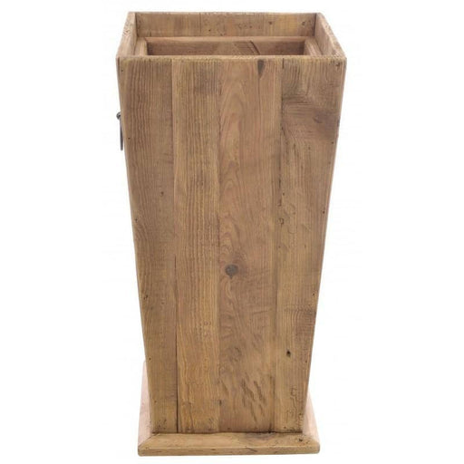 Reclaimed Pine Fair Isle Tall Wooden Planter - Simply Utopia