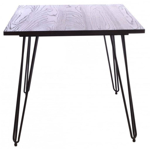 Fitzroy Elm Square Café Table With Hairpin Legs - Simply Utopia