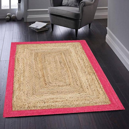 Jute Border Rug - Simply Utopia