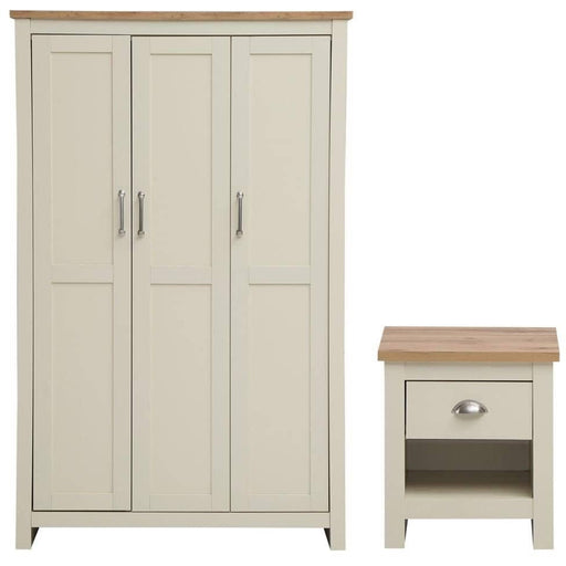 Lisbon 2 Piece Set (3 Door Wardrobe, 1 Draw Bedside) - Simply Utopia
