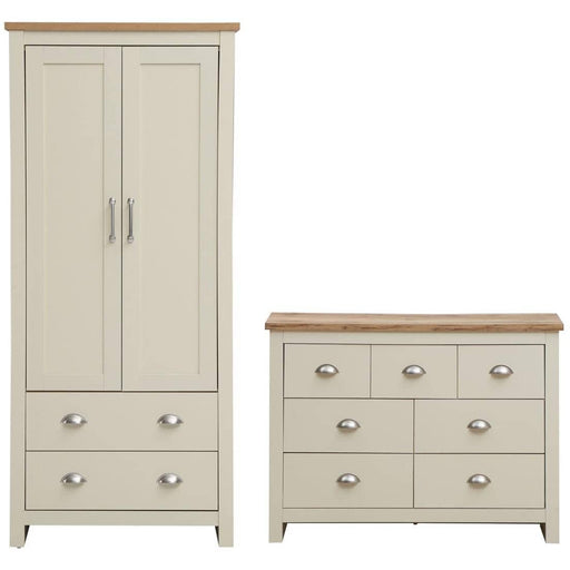 Lisbon 2 Piece Set (2 Door Wardrobe, 3+4 Chest) - Simply Utopia